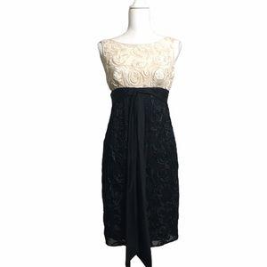 Adrianna Papell high waist sheath dress. Sz 4 NEW
